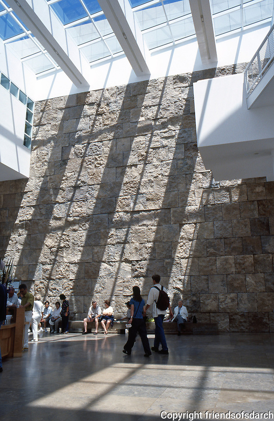 Richard Meier: The Getty Center Entrance Hall.  Photo '99.