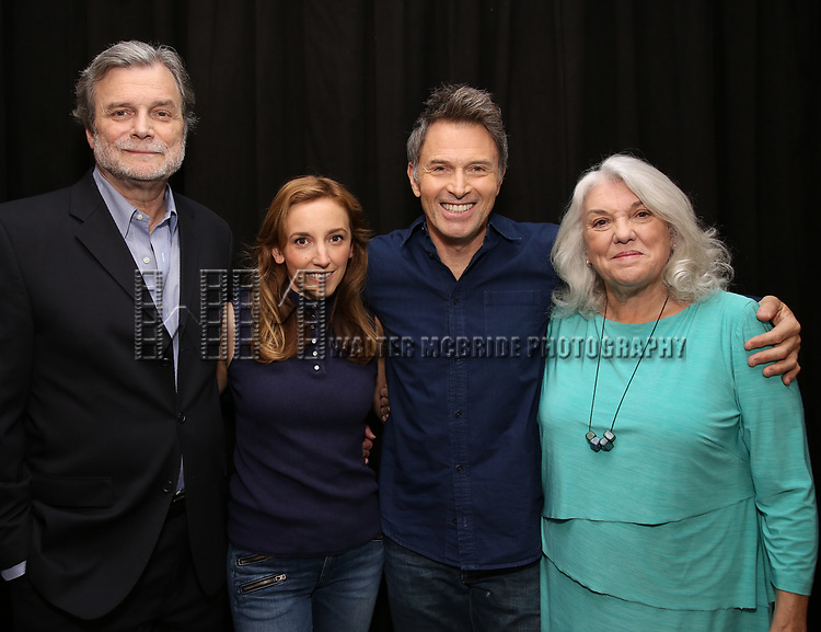 John Procaccino, Adrienne Campbell Holt, Tim Daly and Tyne Daly attends the Photo Call for The Dorset Theatre Festival World Premiere of Theresa Rebeck's 'Downstairs' at Actors Connection on May 10, 2017 in New York City.