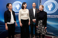"*** NO FEE PIC***.16/12/2011.(L to R).Louise Melling Director at the Centre for Liberty & Reproductive Rights,.Noa Mendelsohn Aviv Director, Equality Programme CCLA,.Aaron Back Director, Ford Israel Fund,.Karen Ciesielski fundraising officer (ICCL).during the ""The Future of Human Rights Global Techniques Securing Local Impact"" international seminar at The Westbury Hotel, Dublin..Photo: Gareth Chaney Collins"
