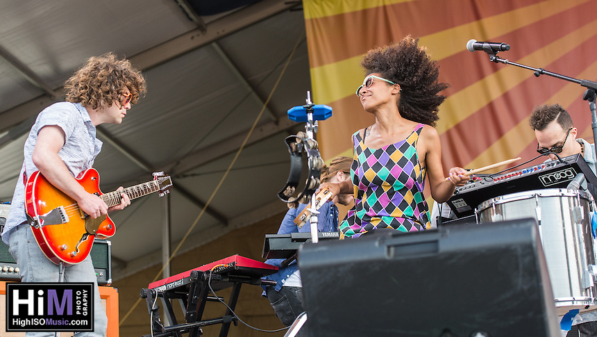Theresa Andersson performs at the 2014 Jazz and Heritage Festival in New Orleans, LA.