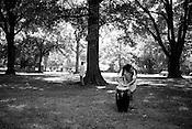 June 06, 2008. Durham, NC..North Carolina based salsa band, Orquesta GarDel..Brevan Hampden plays the congo drum.