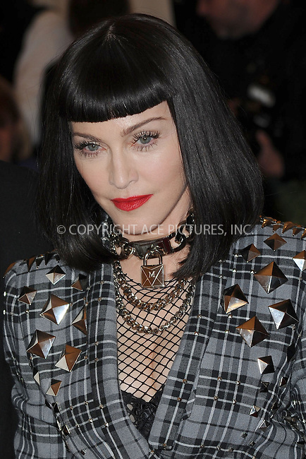 WWW.ACEPIXS.COM . . . . . .May 6, 2013...New York City.....Madonna attending the PUNK: Chaos to Couture Costume Institute Benefit Gala at The Metropolitan Museum of Art in New York City on May 6, 2013  in New York City ....Please byline: Kristin Callahan...ACEPIXS.COM...Ace Pictures, Inc: ..tel: (212) 243 8787 or (646) 769 0430..e-mail: info@acepixs.com..web: http://www.acepixs.com .