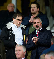 Lincoln City chairman Clive Nates, left and Lincoln City's vice-chairman Roger Bates<br /> <br /> Photographer Chris Vaughan/CameraSport<br /> <br /> The EFL Sky Bet League Two - Lincoln City v Crewe Alexandra - Saturday 6th October 2018 - Sincil Bank - Lincoln<br /> <br /> World Copyright &copy; 2018 CameraSport. All rights reserved. 43 Linden Ave. Countesthorpe. Leicester. England. LE8 5PG - Tel: +44 (0) 116 277 4147 - admin@camerasport.com - www.camerasport.com