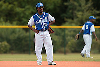 15 July 2010: Felix Brown of Team Saint Martin is seen on defense during day 3 of the Open de Rouen, an international tournament with Team France, Team Saint Martin, Team All Star Elite, at Stade Pierre Rolland, in Rouen, France.