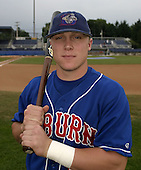 August 23, 2004:  Aaron Mathews of the Auburn Doubledays, Short-Season Single-A affiliate of the Toronto Blue Jays, during a game at Dwyer Stadium in Batavia, NY.  Photo by:  Mike Janes/Four Seam Images