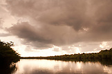 BRAZIL, Agua Boa, Amazon, Agua Boa River, sunset on the river deep in the Amazon jungle