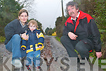 Residents living on the Lisardboola Road were furious this week when the council refused to fix their road. A mother and her five children were trapped indoors all day Thursday due to flooding. Pictured were residents Jerry OBrien and Tracey Moynihan Sheehan with her son Kian (2).  .