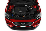 Car Stock 2019 Mazda CX-3 Grand-Touring 5 Door SUV Engine  high angle detail view