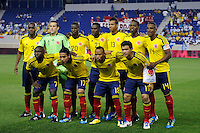 Colombia starting eleven. The men's national teams of Colombia (COL) defeated Honduras (HON) 2-0 during an international friendly at Red Bull Arena in Harrison, NJ, on September 03, 2011.