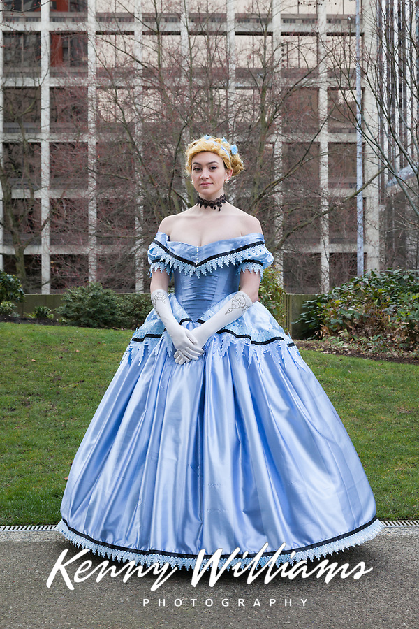 Beautiful Cinderella Cosplay by Kinemadtic. Outfit reimagined by Claire Hummel (Aka Shoomlah) in her Historically Accurate Princess Collection on DeviantArt. Emerald City Comicon, Seattle, WA, USA.
