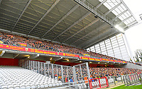 20191102 – Lens , France : tribune Trannin pictured during a French Ligue 2 soccer game between Racing Club de Lens and FC Lorient , a football game on the 13th matchday in the French second league, on saturday 2 nd of November 2019 at the Stade Bollaert Delelis in Lens , France . PHOTO SPORTPIX.BE   DAVID CATRY
