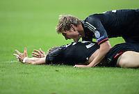 FUSSBALL   CHAMPIONS LEAGUE   SAISON 2012/2013   GRUPPENPHASE   FC Bayern Muenchen - FC Valencia                            19.09.2012 JUBEL mit Bastian Schweinsteiger und Toni Kroos (v. li., FC Bayern Muenchen)