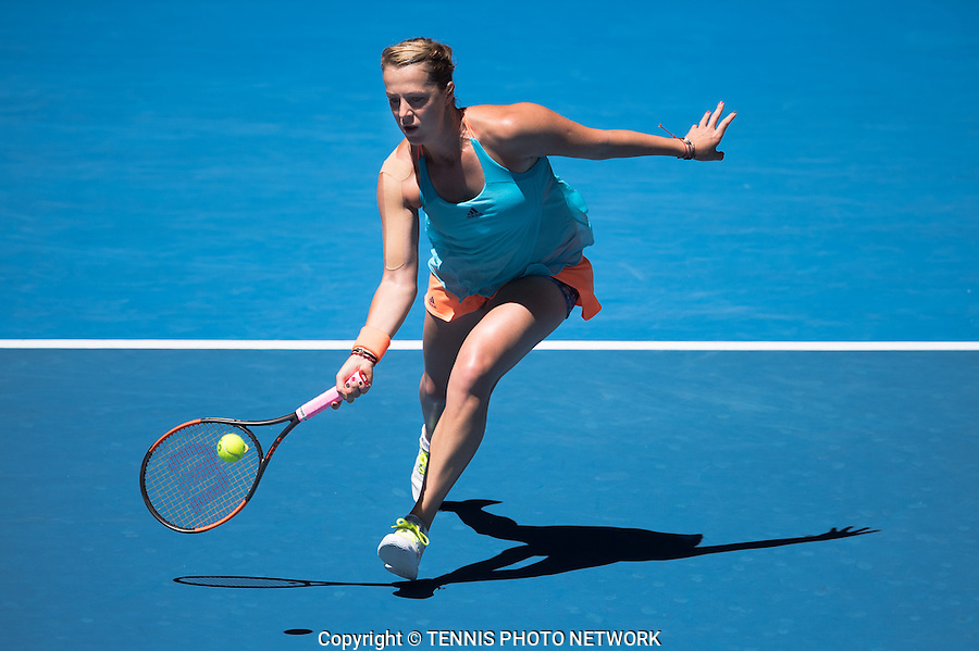 ANASTASIA PAVLYUCHENKOVA (RUS)<br /> <br /> TENNIS , AUSTRALIAN OPEN,  MELBOURNE PARK, MELBOURNE, VICTORIA, AUSTRALIA, GRAND SLAM, HARD COURT, OUTDOOR, ITF, ATP, WTA<br /> <br /> &copy; TENNIS PHOTO NETWORK
