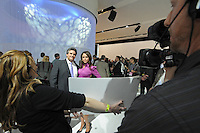 Shira Lazar appears in a Volvo presentation at the Detroit Auto Show in Detroit, Michigan on January 11, 2009.