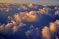 Aerial view of Summer Sunrise on cumulous clouds over the Great Plains of North Dakota, AGPix_0044 .