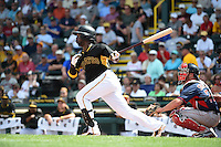 Pittsburgh Pirates outfielder Andrew McCutchen (22) during a Spring Training game against the Boston Red Sox on March 12, 2015 at McKechnie Field in Bradenton, Florida.  Boston defeated Pittsburgh 5-1.  (Mike Janes/Four Seam Images)