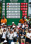 Yani Tseng' supporters stand on the 8th hole during the Day 4 of the LPGA Sunrise Taiwan Championship on at Sunrise Golf Course on October 23, 2011 in Taoyuan, Taiwan. Photo by Victor Fraile / The Power of Sport Images
