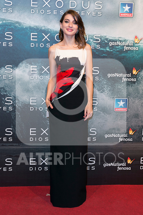 "Maria Valverde attend the Premiere of the movie ""EXODUS: GODS AND KINGS"" at callao Cinema in Madrid, Spain. December 4, 2014. (ALTERPHOTOS/Carlos Dafonte)"