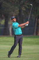 Shubhankar Sharma (IND) watches his approach shot on 18 during round 2 of the World Golf Championships, Mexico, Club De Golf Chapultepec, Mexico City, Mexico. 3/2/2018.<br /> Picture: Golffile | Ken Murray<br /> <br /> <br /> All photo usage must carry mandatory copyright credit (&copy; Golffile | Ken Murray)