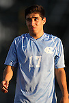 31 August 2012: UNC's Danny Garcia. The University of North Carolina Tar Heels defeated the West Virginia University Mountaineers 1-0 at Fetzer Field in Chapel Hill, North Carolina in a 2012 NCAA Division I Men's Soccer game.
