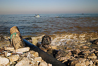 Gaza city, 20 Nov 2009.The Cast Lead military operation has further damaged an already unsufficient sewage system. Most of Gaza sewage  water goes now directly into the sea, a waste in water ressouces as well as a polluting situation extremely dangerous for the Gaza population.