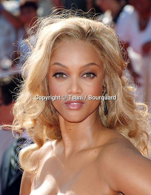 Tyra Banks  - <br /> 35th Daytime Emmy Awards 2008 at The Kodak Theatre In Los Angeles.<br /> <br /> headshot<br /> eye contact