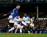 Gylfi Sigurdsson of Everton directs the ball wide of the post during the Europa League Group E match at Goodison Park Stadium, Liverpool. Picture date: September 28th 2017. Picture credit should read: Simon Bellis/Sportimage