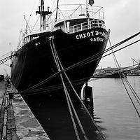Scheepswerf Beliard Murdoch in Antwerpen.  Maart 1963.