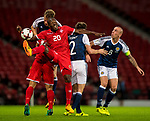 Scotland's Christoph Berra and Malta's Alfred Effiong compete for the ball during the World Cup Qualifying Group F match at Hampden Park Stadium, Glasgow. Picture date 4th September 2017. Picture credit should read: Craig Watson/Sportimage