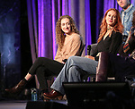 Micaela Diamond and Teal Wicks on stage during Broadwaycon at New York Hilton Midtown on January 11, 2019 in New York City.