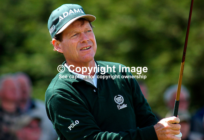 Tom Watson, professional golfer, USA. Ref: 200207230151. Photograph taken during ProAm prior to British Seniors Golf Championship at Royal County Down, N Ireland, UK...Copyright Image from Victor Patterson, 54 Dorchester Park, Belfast, UK, BT9 6RJ..Tel: +44 28 9066 1296.Mob: +44 7802 353836.Voicemail +44 20 8816 7153.Skype: victorpattersonbelfast.Email: victorpatterson@mac.com.Email: victorpatterson@ireland.com (back-up)..IMPORTANT: If you wish to use this image or any other of my images please go to www.victorpatterson.com and click on the Terms & Conditions. Then contact me by email or phone with the reference number(s) of the image(s) concerned.