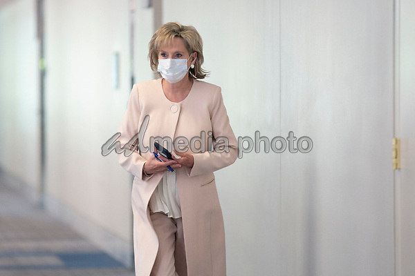 United States Senator Cindy Hyde-Smith (Republican of Mississippi) arrives to GOP policy luncheons on Capitol Hill in Washington D.C., U.S., on Tuesday, June 2, 2020.  Credit: Stefani Reynolds / CNP/AdMedia