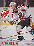 1984-85 NJ Devils program front cover