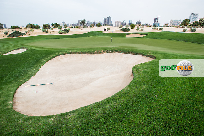 11th green at The Els Club , Dubai, United Arab Emirates.  28/01/2016. Picture: Golffile | David Lloyd<br /> <br /> All photos usage must carry mandatory copyright credit (&copy; Golffile | David Lloyd)
