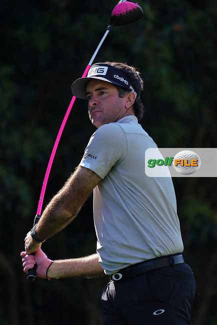 Bubba Watson (USA) In action during the 1st round of The Genesis Invitational, Riviera Country Club, Pacific Palisades, Los Angeles, USA. 12/02/2020<br /> Picture: Golffile | Phil Inglis<br /> <br /> <br /> All photo usage must carry mandatory copyright credit (© Golffile | Phil Inglis)