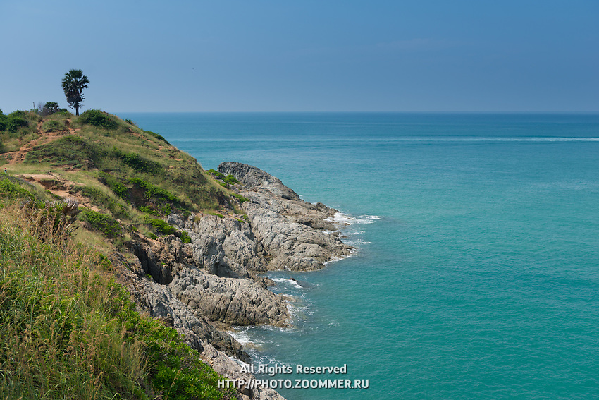Rocky hills of Promthep Cape on Phuket, Thailand