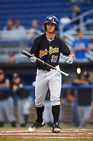 West Virginia Black Bears left fielder Hunter Owen (37) at bat during a game against the Batavia Muckdogs on August 20, 2016 at Dwyer Stadium in Batavia, New York.  Batavia defeated West Virginia 7-2.  (Mike Janes/Four Seam Images)