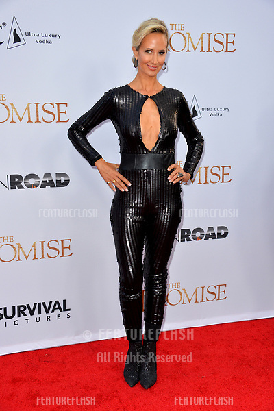 Lady Victoria Hervey at the premiere for &quot;The Promise&quot; at the TCL Chinese Theatre, Hollywood. Los Angeles, USA 12 April  2017<br /> Picture: Paul Smith/Featureflash/SilverHub 0208 004 5359 sales@silverhubmedia.com