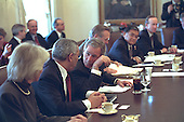 United States President George W. Bush meets with his Cabinet in the Cabinet Room of the White House on Thursday, January 24, 2002..Mandatory Credit: Eric Draper - White House via CNP.