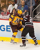 Jake Parenteau (MN - 6), Mike Vecchione (Union - 21) - The Union College Dutchmen defeated the University of Minnesota Golden Gophers 7-4 to win the 2014 NCAA D1 men's national championship on Saturday, April 12, 2014, at the Wells Fargo Center in Philadelphia, Pennsylvania.