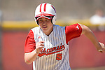 MADISON, WI - APRIL 16: Lynn Anderson #5 of the Wisconsin Badgers softball team runs home against the Indiana Hoosiers at Goodman Diamond on April 16, 2007 in Madison, Wisconsin. (Photo by David Stluka)