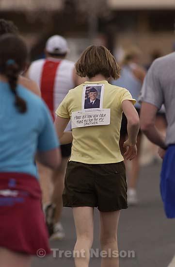 Laura Nelson in Moab Half Marathon.; 03.15.2003, 12:16:00 PM<br />