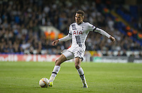 Dele Alli of Tottenham Hotspur passes the ball during the UEFA Europa League match between Tottenham Hotspur and Qarabag FK at White Hart Lane, London, England on 17 September 2015. Photo by Andy Rowland.