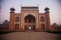 Ornate gateway with arched door and other decorations.<br /> (Photo by Matt Considine - Images of Asia Collection)