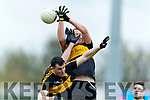 Alan O'Sullivan and Johnny Buckley Dr Crokes in action against Brendan O'Sullivan South Kerry in the Senior County Football Final in Austin Stack Park on Sunday