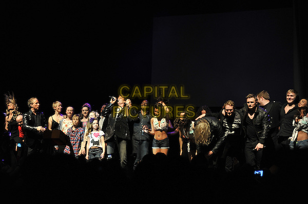 David Hasselhoff & cast .performing live in concert, indigo2, Greenwich, London, England, UK, .3rd March 2012..gig music show on stage half length dancers musicians guests microphone singing .CAP/MAR.© Martin Harris/Capital Pictures.