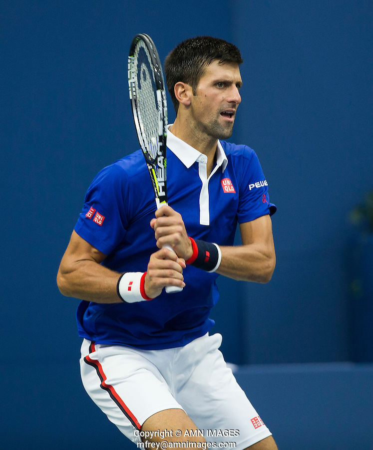 NOVAK DJOKOVIC (SRB)<br /> <br /> The US Open Tennis Championships 2015 - USTA Billie Jean King National Tennis Centre -  Flushing - New York - USA -   ATP - ITF -WTA  2015  - Grand Slam - USA  <br /> <br /> &copy; AMN IMAGES