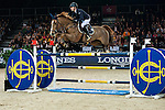 Katharina Offel of Ukraine riding Pin Up Ouistreham at the the Massimo Dutti Trophy during the Longines Hong Kong Masters 2015 at the AsiaWorld Expo on 15 February 2015 in Hong Kong, China. Photo by Juan Flor / Power Sport Images