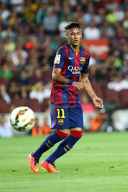 49e Trofeu Joan Gamper.<br /> FC Barcelona vs Club Leon FC: 6-0.<br /> Neymar Jr.