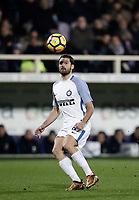 Calcio, Serie A: Fiorentina - Inter, stadio Artemio Franchi Firenze 5 gennaio 2018.<br /> Inter's Antonio Candreva in action during the Italian Serie A football match between Fiorentina and Inter Milan at Florence's Artemio Franchi stadium, January 5 2018.<br /> UPDATE IMAGES PRESS/Isabella Bonotto